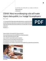 OSHA_ New recordkeeping rule will make injury data public; is a 'nudge' to employers _ 2016-05-11 _ Safety+Health Magazine
