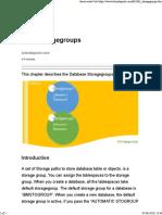 DB2 Storagegroups