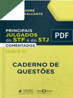Principais Julgados Do STF e STJ Comentados - 2018 - CADERNO de QUESTÕES