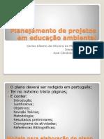 Planejamento de Projetos Em Educação Ambiental