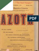 Azoth September 1919