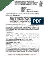 Demanda de Tenencia de Walter Teofilo Huaccha