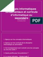 Conceptsinformatiquesetcurricula 31-10-2013 131030185647 Phpapp02 (1)