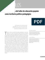 La Experiencia Del Taller de Educación Popular Como Territorio Político-pedagógico