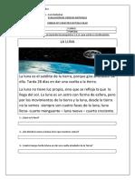 Evaluación de Ciencias Naturales Sistema Solar