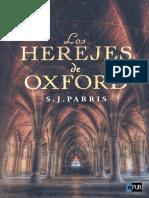Los Herejes de Oxford - S. J. Parris