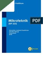 Petunjuk Praktikum Mikroteknik 2018