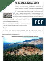 Problemática Ambiental en La República Dominicana, Año 2016 - Acción Verde _ El Portal Ambiental de La República Dominicana