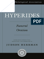 (American Philological Association American Classical Studies 53) Hyperides., Hyperides_ Herrman, Judson-Hyperides_ Funeral Oration-Oxford University Press (2009).pdf