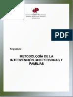 Modulo Metodologia de La Intervencion Con Personas y Familias
