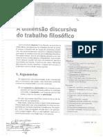 A Dimensão Discursiva Do Trabalho Filosófico (1)