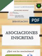 ASOCIACIONES INSCRITAS