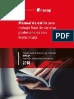 Manual de Estilo Para Trabajo Final de Carreras Profesionales Con Licenciatura