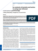 Determining the Contents of Protein and Amino Acids in Peanuts Using Near‐Infrared Reflectance Spectroscopy