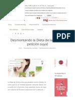 Desmontando La Dieta de La Zona (a Petición Suya) – Mi Dieta Cojea