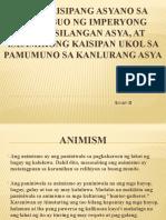 Mga Kaisipang Asyano Sa Pagbubuo Ng ImperyongTimog-Silangan Asya at kong Kaisipan Ukol Sa Pamumuno Sa Kanlurang Asya