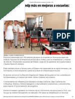 31-05-18 Invertirán 150 mdp más en mejoras a escuelas