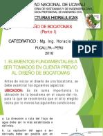 CLASE 4 - DISEÑO DE BOCATOMAS (Parte I).pdf