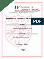 Estrategias Sanitarias Nacionales II.