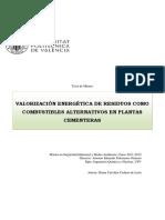Valorizacion Energetica de Residuos Como Combustibles Alternativos en Plantas Cementeras