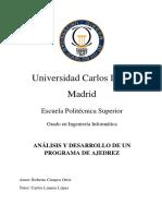 ANÁLISIS Y DESARROLLO DE UN  PROGRAMA DE AJEDREZ