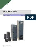 Manual Siemens Micromaster 430