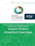 Equipo Técnico Nacional PONENCIA