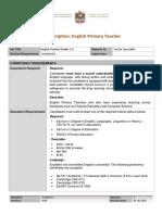 MOE English Primary (G1-5) Job Description v0.1
