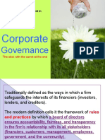 Lecture 5 Student Handout on Corporate Governance