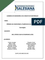 Coeficiente de Poisson y Modulo de Elasticidad