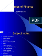 34 34 Sources of Finance
