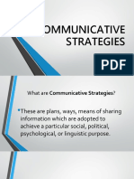 Communicative Strategies