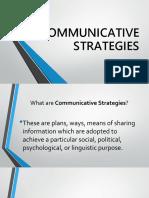 Communicative Strategies