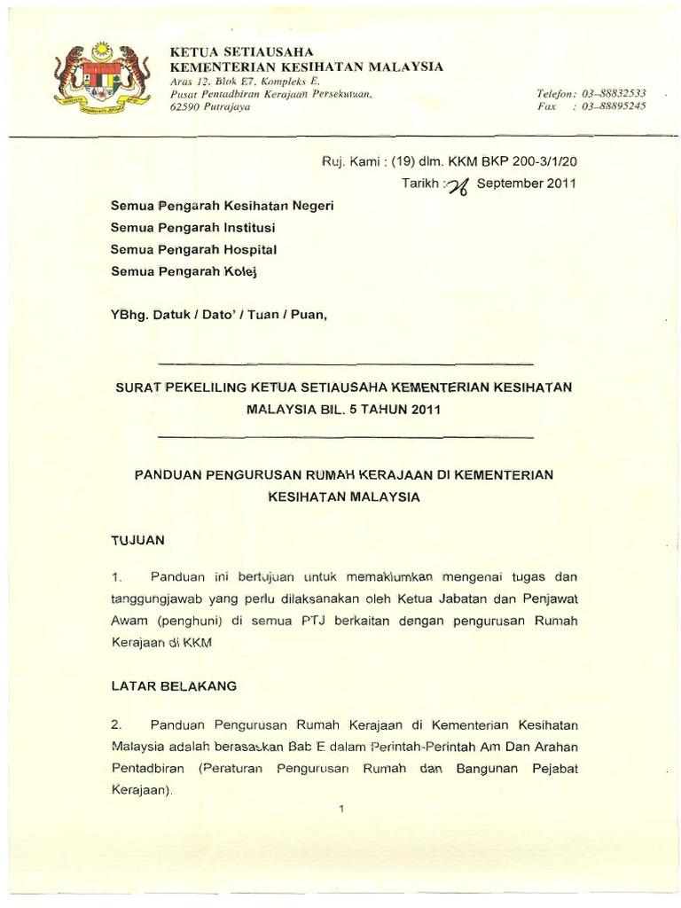 Surat Pekeliling Ksu Kkm Bil 5 Tahun 2011 2 Pdf