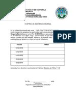 Control de Asistencia Semanal Etapa Directa