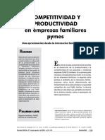 Competitividad y Productividad en Las Pymes