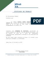 Certificado de Trabajo Fotocopias Tamaya