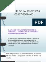 Análisis de La Sentencia 05427-2009-Ac