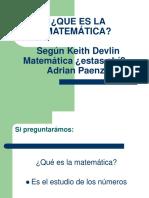 Que Es La Matemática