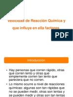 Velocidad de Reaccion - Quimica 1