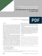 Recomendaciones Para El Cuidado de La Salud Del Adulto Mayor