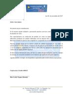 Carta Presentacion Ritce Agricola Don Ricardo