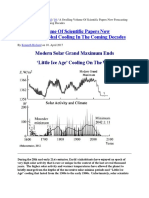 A Swelling Volume of Scientific Papers Now Forecasting Global Cooling in the Coming Decades