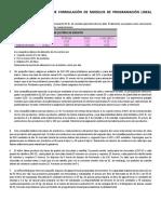 Problemas Propuestos de Formulación de Modelos de Programación Lineal