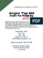 Prediksi Angka Top Hongkong Hari Ini Jumat 08 Juni 2018