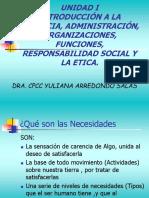 INTRODUCCIÓN A LA GERENCIA, ADMINISTRACIÓN, ORGANIZACIONES, FUNCIONES, RESPONSABILIDAD SOCIAL Y LA ETICA.