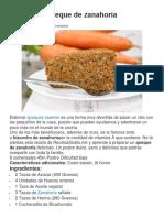 Receta de Queque de Zanahoria