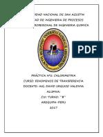 Practica Nº 2 Laboratorio de fenómenos de transferencia