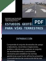 Estudios Geotecnicos Para Vias Terrestres