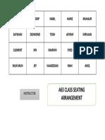 Seating Plan a63